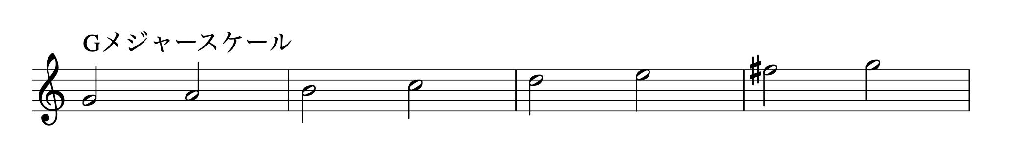 Gmajor-scale
